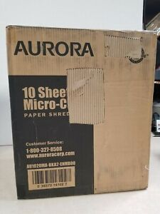 Aurora Au1020ma High security 10 sheet Micro cut Paper Shredder