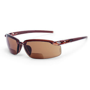 Crossfire Es5 1 5 Hd Brown Bifocal Reading Magnifier Safety Glasses Sun Z87 1