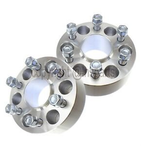2pc 1 5 Hubcentric Wheel Spacers 6x135 Ford F150 Raptor 14x2 Coarse Studs