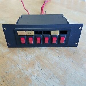 Federal Signal Sw300 012 Light Control Switch Box 6 Switches With Mount