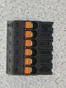 5 Weidmuller 1000070001 6 Position Terminal Block Plug Connectors Female Germany