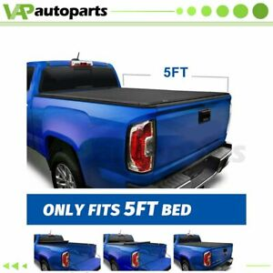 Blk Tonneau Cover For 2019 2020 Ford Ranger 5ft Bed Soft Waterproof Roll Up