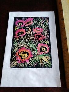 Vintage Japanese Wood Block Print 1940 S Greeting Card Unidentified Artist