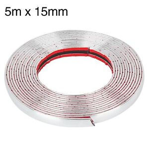 5m X15mm Chrome Molding Trim Strip For Car Body Door Side Roof Decorate