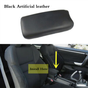 Center Black Leather Console Lid Armrest Cover Fit For Honda Civic 2006 2011