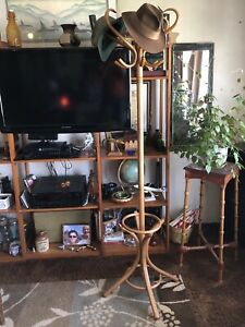 Vintage Thonet Style Bentwood Rotating Hall Tree Coat Rack Umbrella Stand Mcm