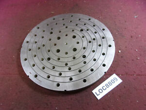 10 Indexer Face Plate Threaded Work Holding Loc8809
