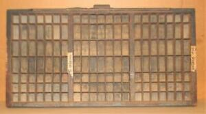 Letterpress Hamilton Triple Cap Case Print Type Drawer Shadowbox Ca13 12