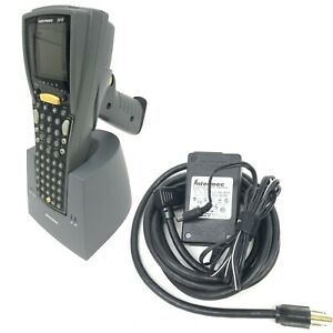 Intermec 2410 Handheld Barcode Scanner W dock charger Battery 1