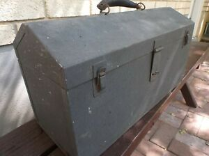 Vintage A Frame Snap On Tool Box Grey 2 Drawer Pullouts Rare