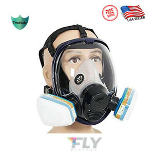 Trudsafe tm 6800 Full Face Respirator Gas Mask Breather Painting Spraying