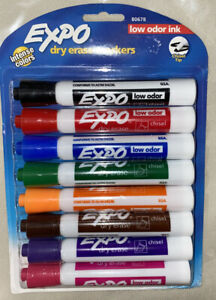 Expo Dry Erase Markers Low Odor Ink Intense Colors 8 Pack Office School Suppl