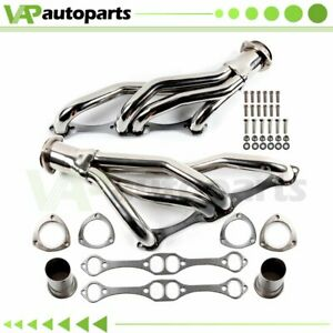 For 67 77 Chevrolet Pontiac Buick Oldsmobile Stainless Manifolds Headers 265 400