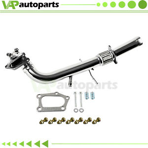 Racing Turbo Downpipe Exhaust For 07 13 Mazda 3 Mps 2 3l Mazdaspeed3 Stainless