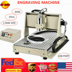Usb 3 Axis 1500w 6040 Cnc Router Engraver 3d Wood Pcb Drilling Milling Machine