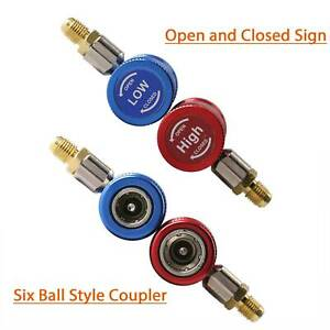 2 X R1234yf Quick Couplers Adapters Auto Ac High Low Manifold Gauge Set