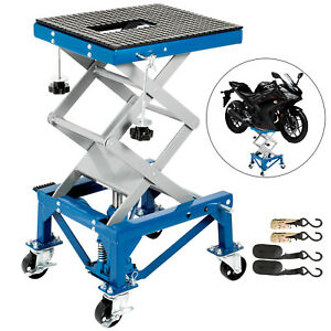 Motorcycle Center Scissor Lift Jack Hoist Stand Dirt Bikes Atv Platform Center