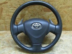 2007 2009 Jdm Toyota Corolla Rumion Zre15 Blk Leather Steering Wheel Factory Oem