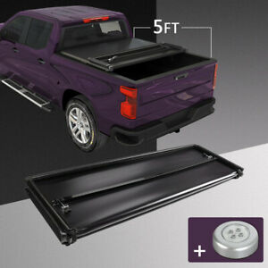 Tri Fold 5ft Soft Truck Bed Tonneau Cover Waterproof For 2016 2020 Toyota Tacoma