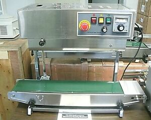 Cbs 900v Vertical Stainless Steel Belt Sealing Machine With Inflation Function