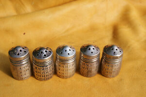 5 Vintage Sterling Silver Vl Salt Pepper Shakers 925 Silver 17 Grams Old