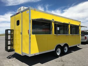 20 X 8 5 Concession Food Trailer Restaurant Catering Bbq Double Axle V Nose
