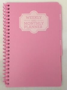 Spiral Planner Weekly And Monthly Pink Undated Calendar Journal Tracker