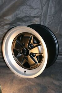 Fuchs Style Wheels F Porsche 911 7x16 9x16 Black Diamond Cut Lip W T V