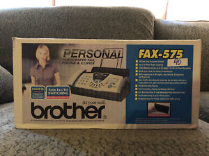 New In Box Brother Fax 575 Personal Plain Paper Fax Phone Coper Never Opened