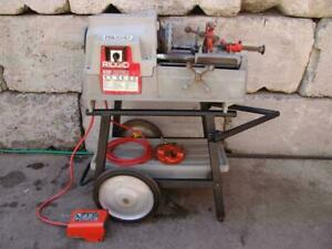 Ridgid 535 Pipe Threader Threading Machine 1 2 To 2 Inch Works Fine 2
