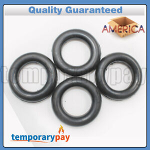 4pcs O ring Exhaust Mount Rubber Insulator Grommet Hanger Bushing Support