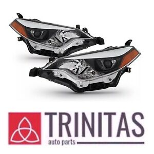 For 2014 2016 Toyota Corolla Headlights Headlamps Aftermarket Left right