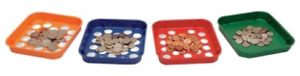 Mmf Industries Speed Sort Coin Sorting Trays 4 Color coded Trays For Pennies