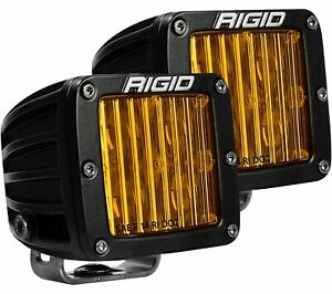 Rigid 504814 In Stock D Series Pro Sae Dot Selective Yellow Fog Lights Pair