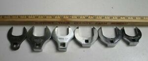 Vintage Snap On Tools Crows Feet Set Of 6 Made In Usa