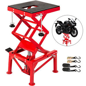 Motorcycle Jack Scissor Jack 300lbs Hydraulic Lift Table With Fastening Straps
