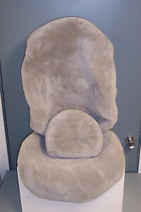 Mercedes Factory Sheepskin Seat Covers For S 126 Chassis light Gray 1 Pair