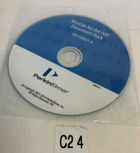 Perkin Elmer Winlab For Aa Ivd Document Pack N3150021 a Cd Software Sealed