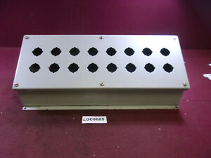 Hoffman Type 13 12 Pushbutton Enclosure 16 Hole Loc8825