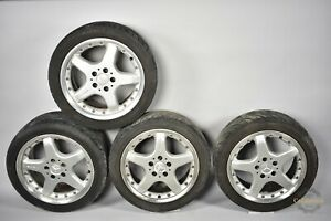 Mercedes W208 Slk320 Slk32 Clk55 Amg 17 Rim Wheel Set 4 Two Piece Oem