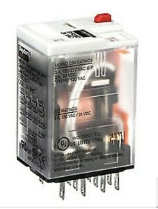 Dayton Plug In Relay 8 Pins Square 5yr28 Coil 24 Volt Cont 3 Amp 4pdt With Base