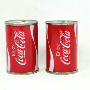 Vintage Red Wave Coca-Cola Coke Cans Salt And Pepper Shakers