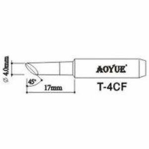 Aoyue T4cf Replacement Soldering Iron Tips