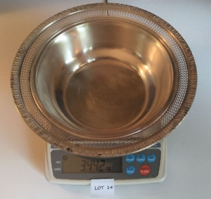 Sterling Silver 925 Bowl Large 344 Grams 11 Troy Oz Scrap Or Not You Decide 14