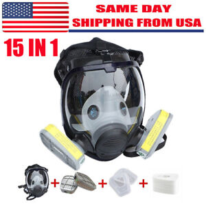 15 In 1 For 6800 Facepiece Respirator Gas Mask Full Face Painting Spraying