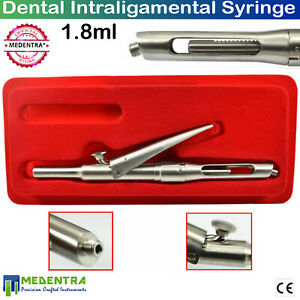 New Pro Intraligamentary Syringe Anesthesia Pen Style Angled 1 8ml Dental Lab Ce