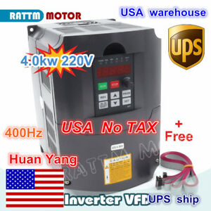 220v 4hp 13a 3kw Variable Frequency Drive Inverter Vfd Vsd Single To 3 Phase Usa