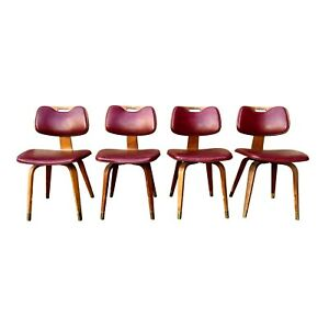 Vintage Mid Century Thonet Bentwood Chairs Lots Of 4