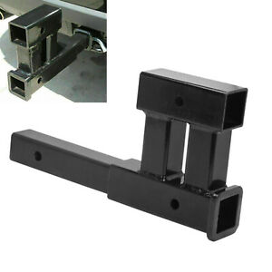 Dual 2 Truck Trailer Hitch Receiver Rise Drop Adapter Extender Tow 4000lb