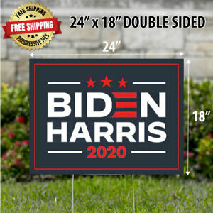 Biden Harris 2020 24 X 18 Yard Sign Corrugated Plastic Double Sided